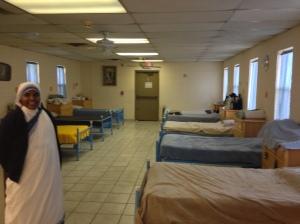 Sr. Marine in the women's shelter.