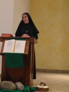 I gave my vocation testimony after Mass.