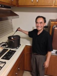 Fr. Bui loves to make Italian food.
