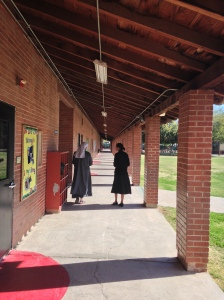 Sister Mary Claire leads us on a tour of the school.