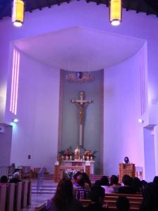 The interior of Holy Trinity Church