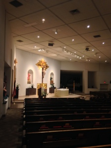 The Interior of St. Daniel's Church.