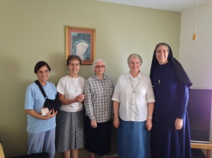 Sr. Maria Dina, Sr. Riccardina, Sr. Adelangela, Sr. Jo Marie (from left to right).