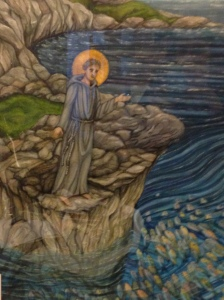 St. Anthony of Padua preaching to fishes.