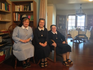 From left to right: Sr. Mary Eileen, Sr. Mary Beata and Sr. Margery.
