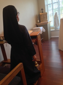 Sr. Mary Beata rings the bell for the Angelus.