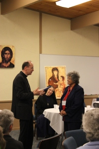Bishop Olmsted honoring Sr. Maria Celia Molina, SNDdeN, also 60 years!
