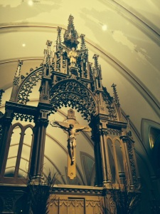 This breathtakingly beautiful structure is behind the Altar!