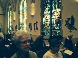 NCVR facing Sisters at Mass 2