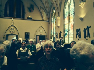 NCVR facing Sisters at Mass