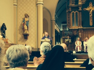 Mass with the Auxiliary Bishop Francis Kane of Chicago