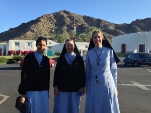 Sr. Sabrina, Sr. Mary Dolora and Sr. Anthony Mary
