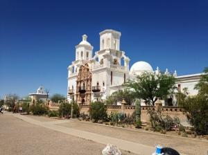 "San Xavier Mission in Tuscon -- ""The White Dove in the Desert"""