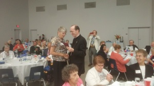 Bishop Olmsted honors Sr. Margaret Campbell, SNDdeN for her 60th Anniversary.