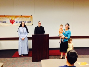 Fr. Paul Sullivan and I gave a vocations presentation to home schooled children.