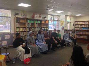 We had a great Vocation Panel at St. John Mary Vianney School in Goodyear on June 1.