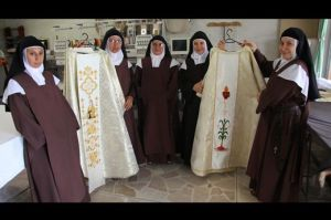 Carmelite Sisters of St. Dominic with Vestments for Pope's Visit to Ecuador