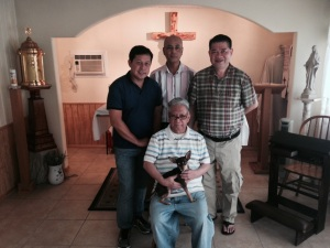 Fr. Zantua in the center with his 3 brother Disciples of Hope.
