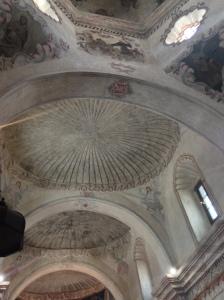 The Ceiling looks like a sea shell.