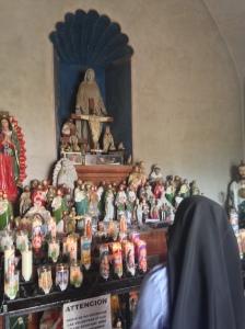 Sister Maria Crucis prays to her Patroness