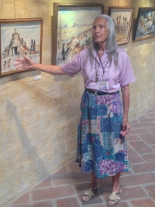 Carol Locus, our tour guide and friend of DeGrazia.