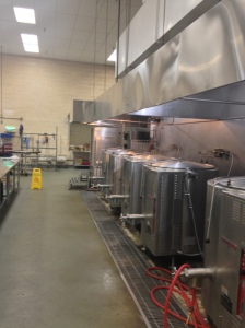 With these vats, 4,500 meals are made each day!