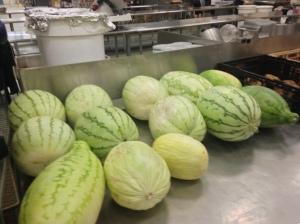 Vegetables for their urban farm.