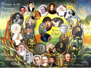 An image of Blessed and Saints of the Vincentian Family.