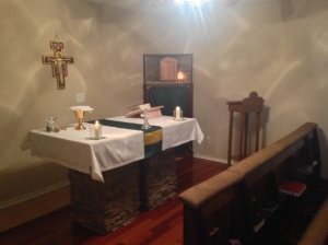 All is ready for the Holy Sacrifice of the Mass.