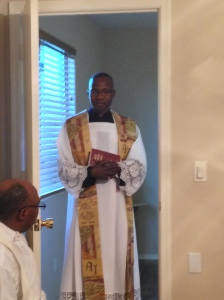 Fr. Robert Aliunzi, A.J. prepares to be the main celebrant of the Mass.