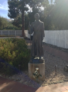 I offered a white rose to St. Junipero Serra praying for vocations.