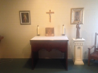 A Simple Altar in the Chapel