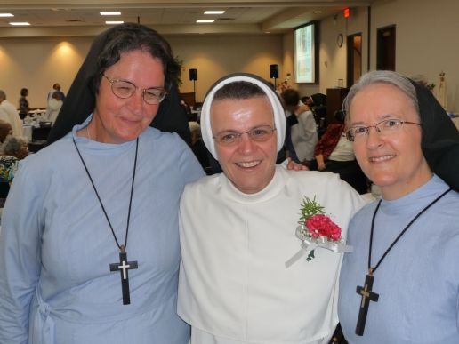 Sr. Mary Katerina (left), Sr. Mary Jordan (center), Sr. Mary Angela (right)