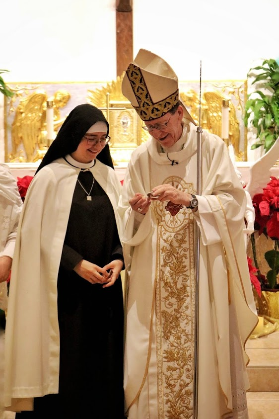 Bishop Olmsted with Sister Viviana