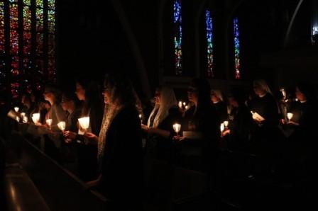 Candlelit procession