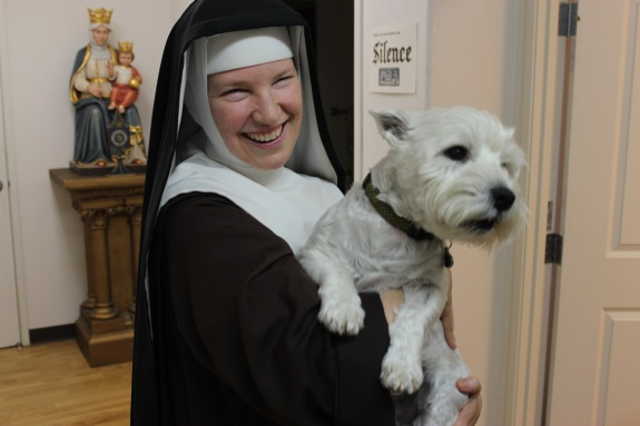 Sr Marie Andre, PCPA with Fergy