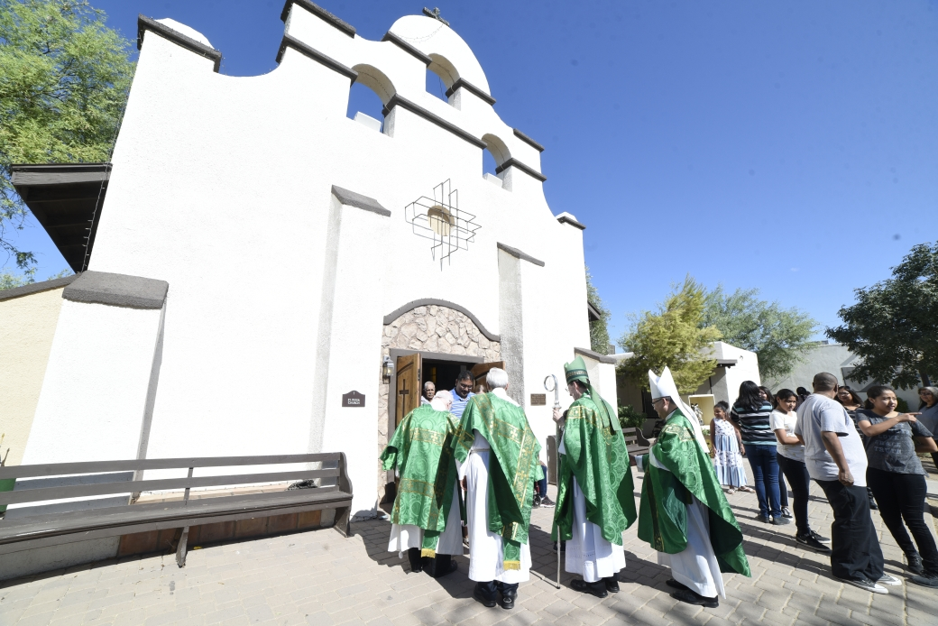 Procession into St. Peter's Mission Church.JPG