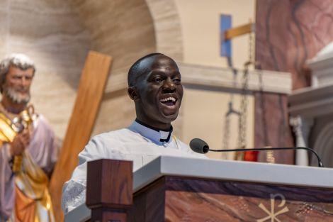Fr. Teilo smiling