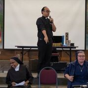 Fr. Vinhson as the MC
